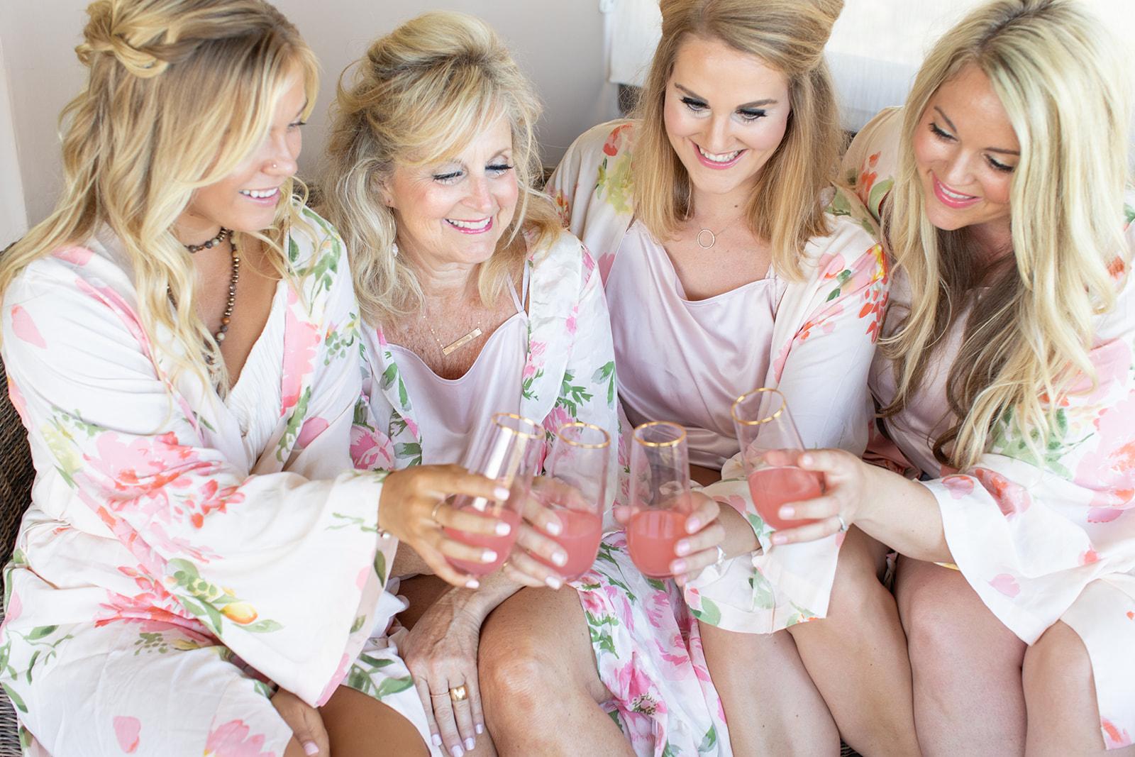cheers bridesmaids spokane bride