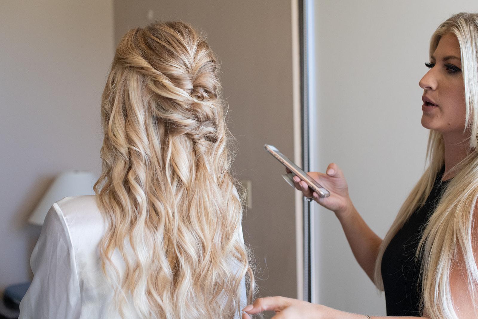 braided hair spokane bride hawaii wedding