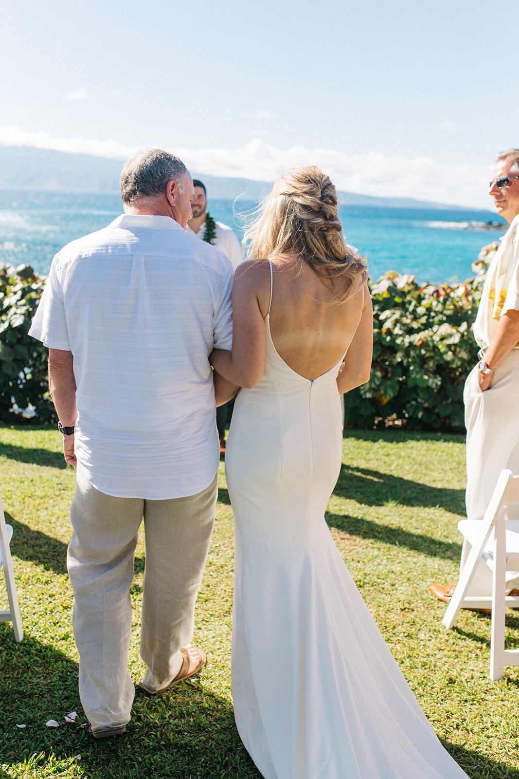beach ceremony walking down the aisle spokane bride