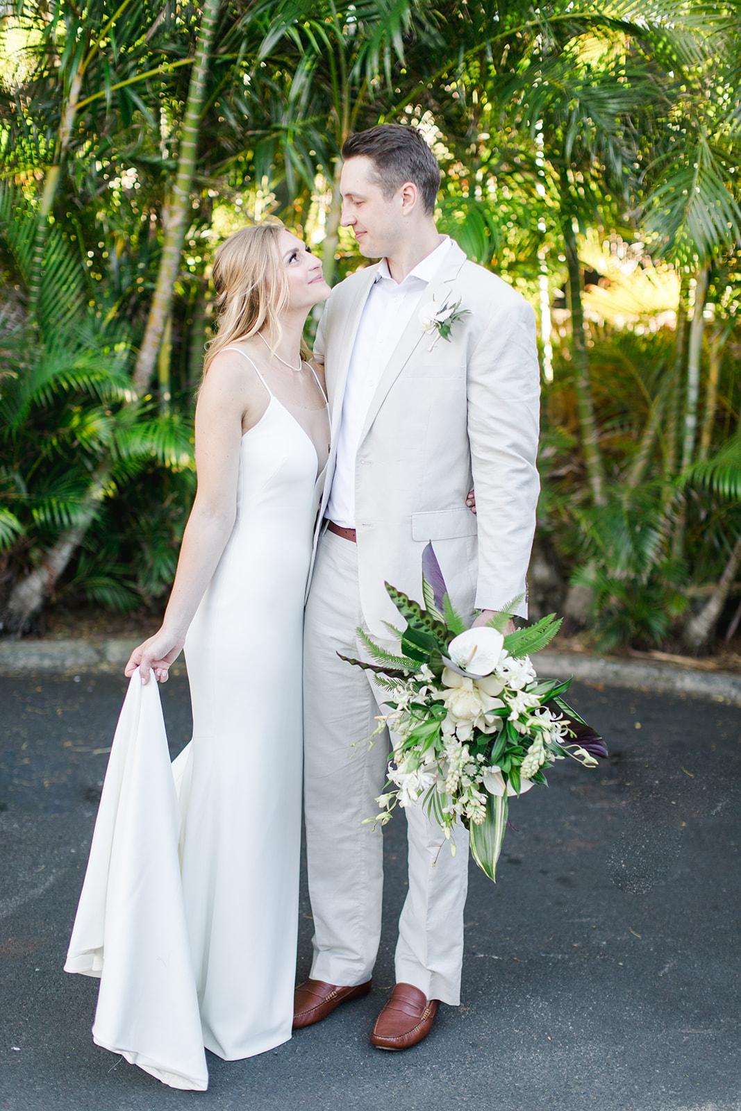 just married spokane bride and groom hawaii wedding