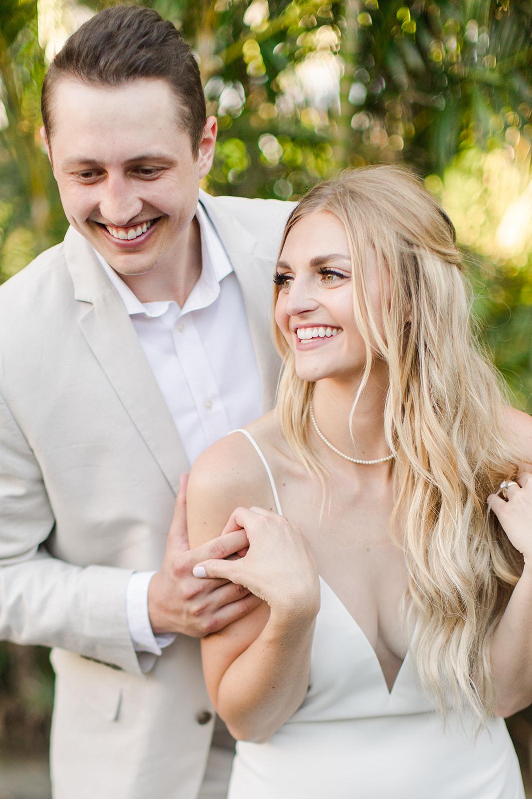 laughing spokane bride and groom Hawaii wedding