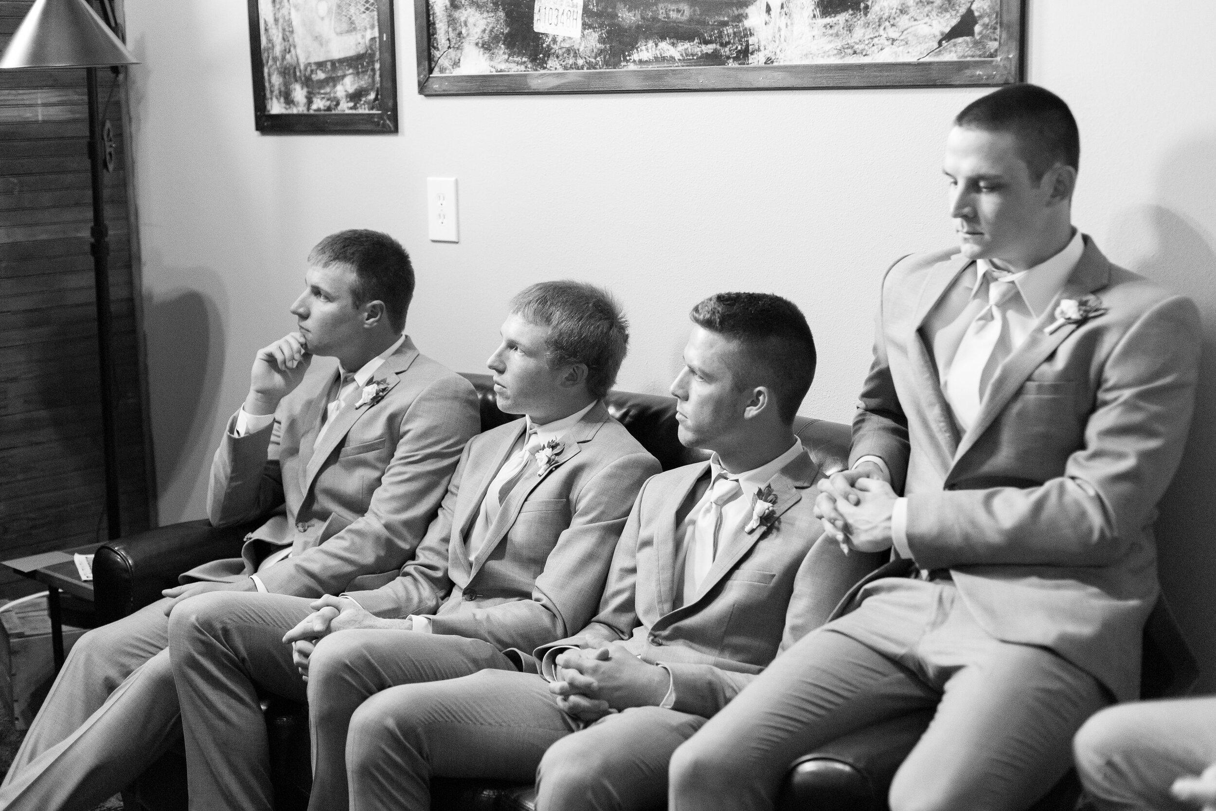 groomsmen spokane bride and groom getting ready