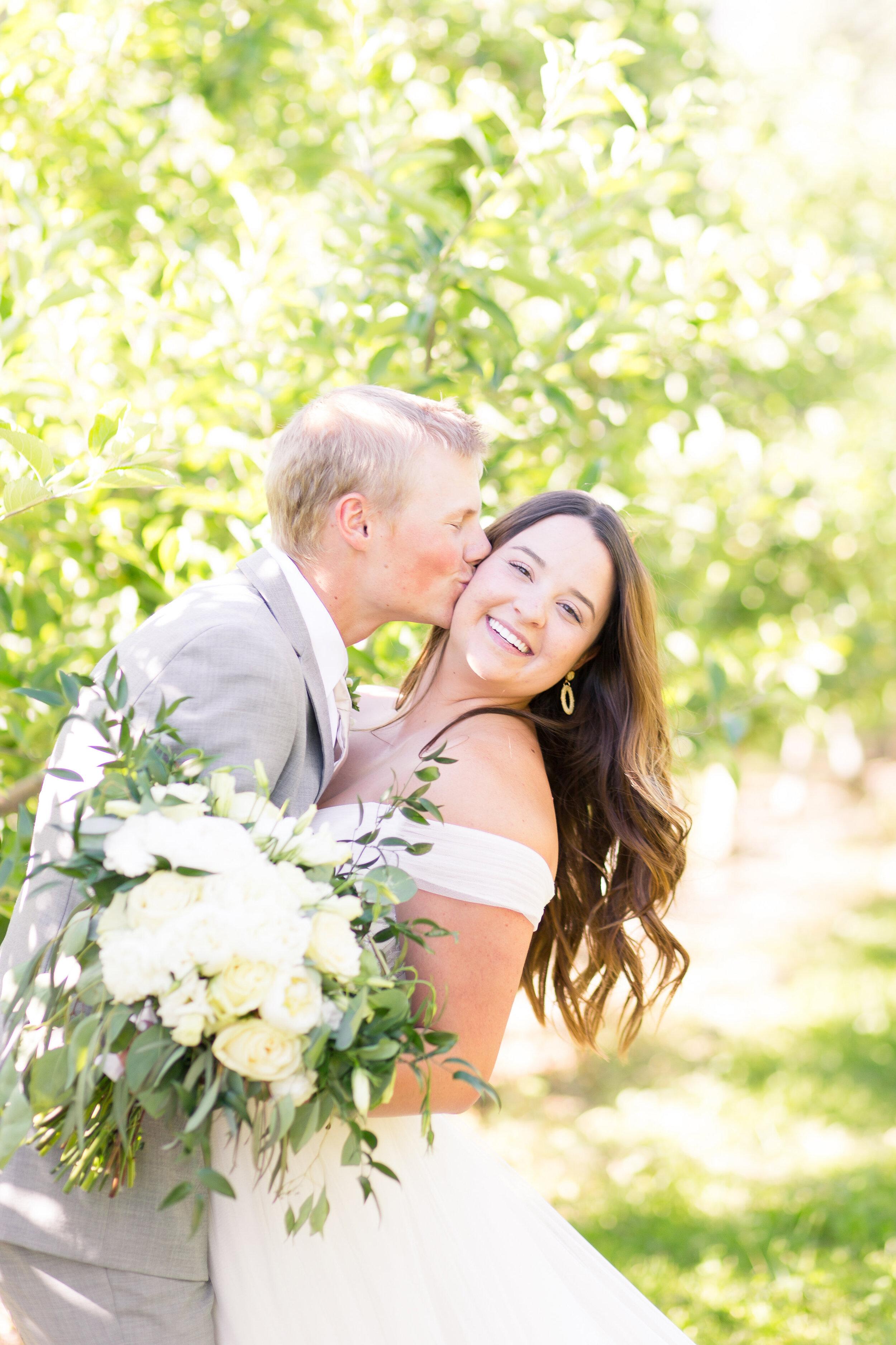 laughing spokane bride and groom