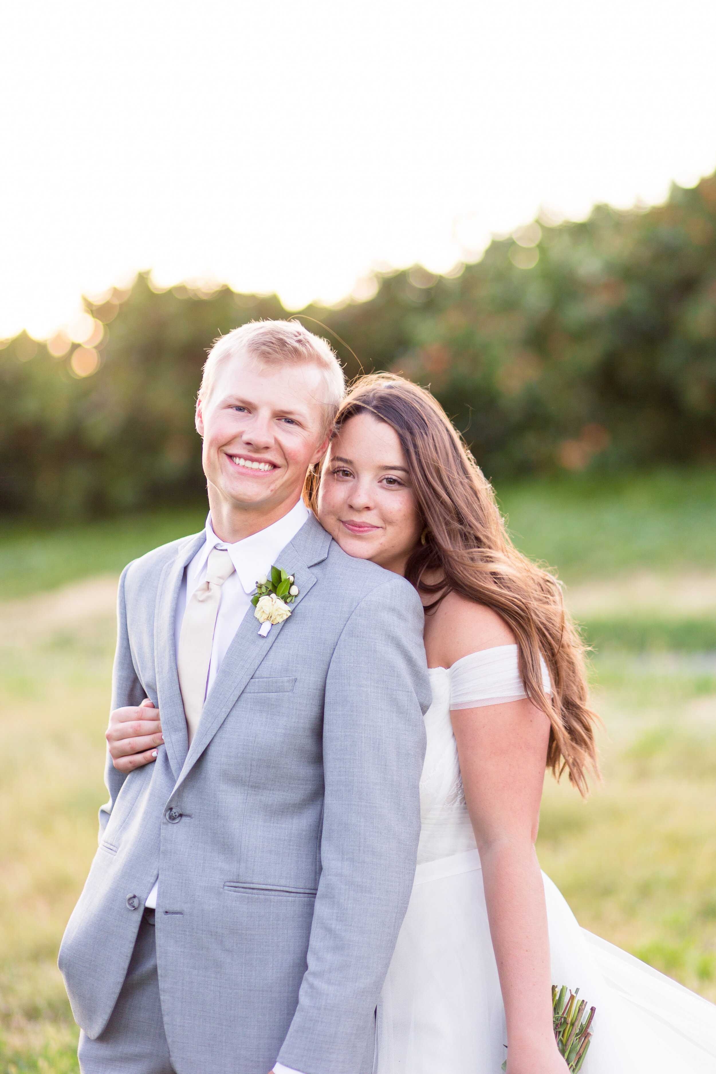 spokane bride and groom before ceremony