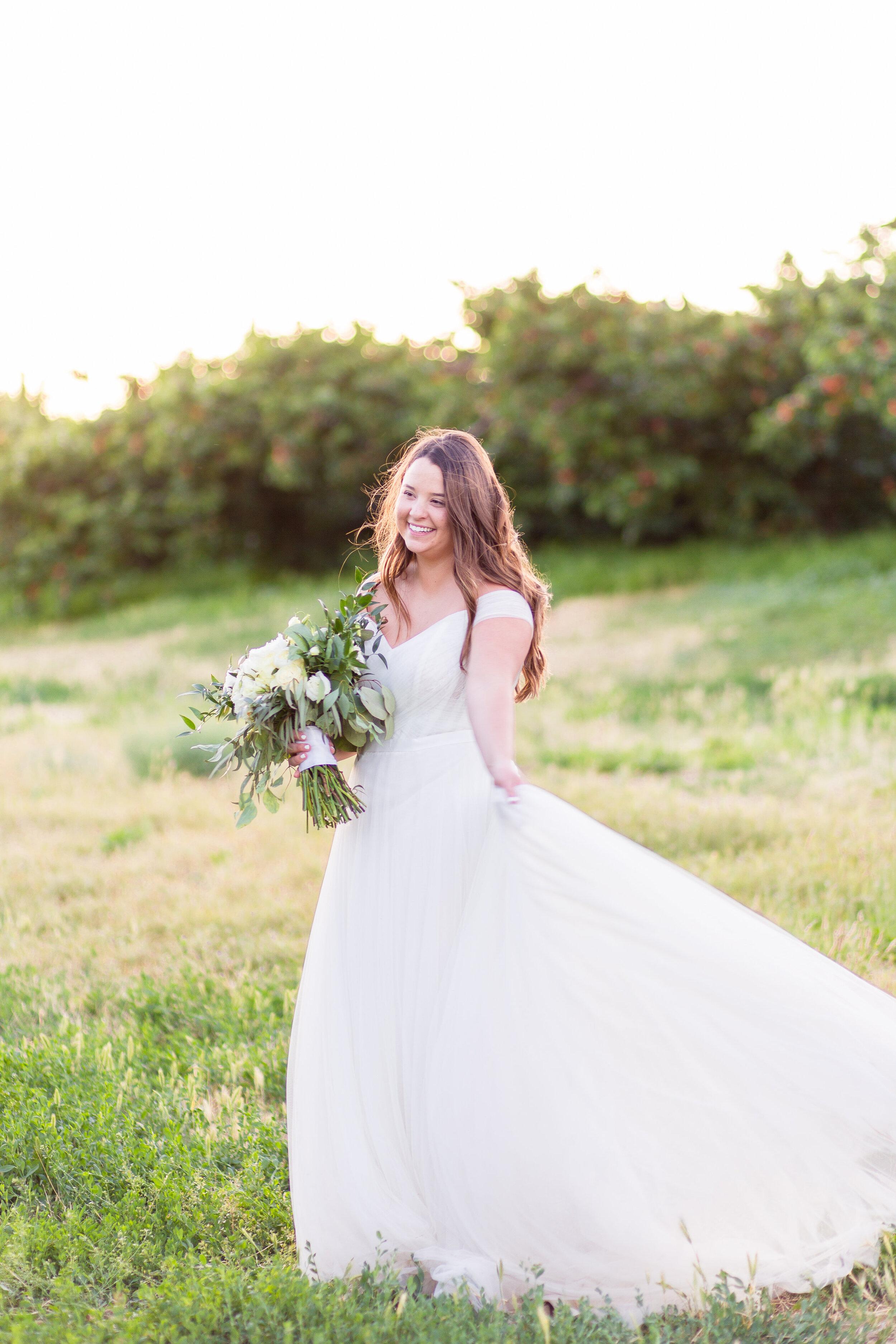 bridal portrait spokane wedding