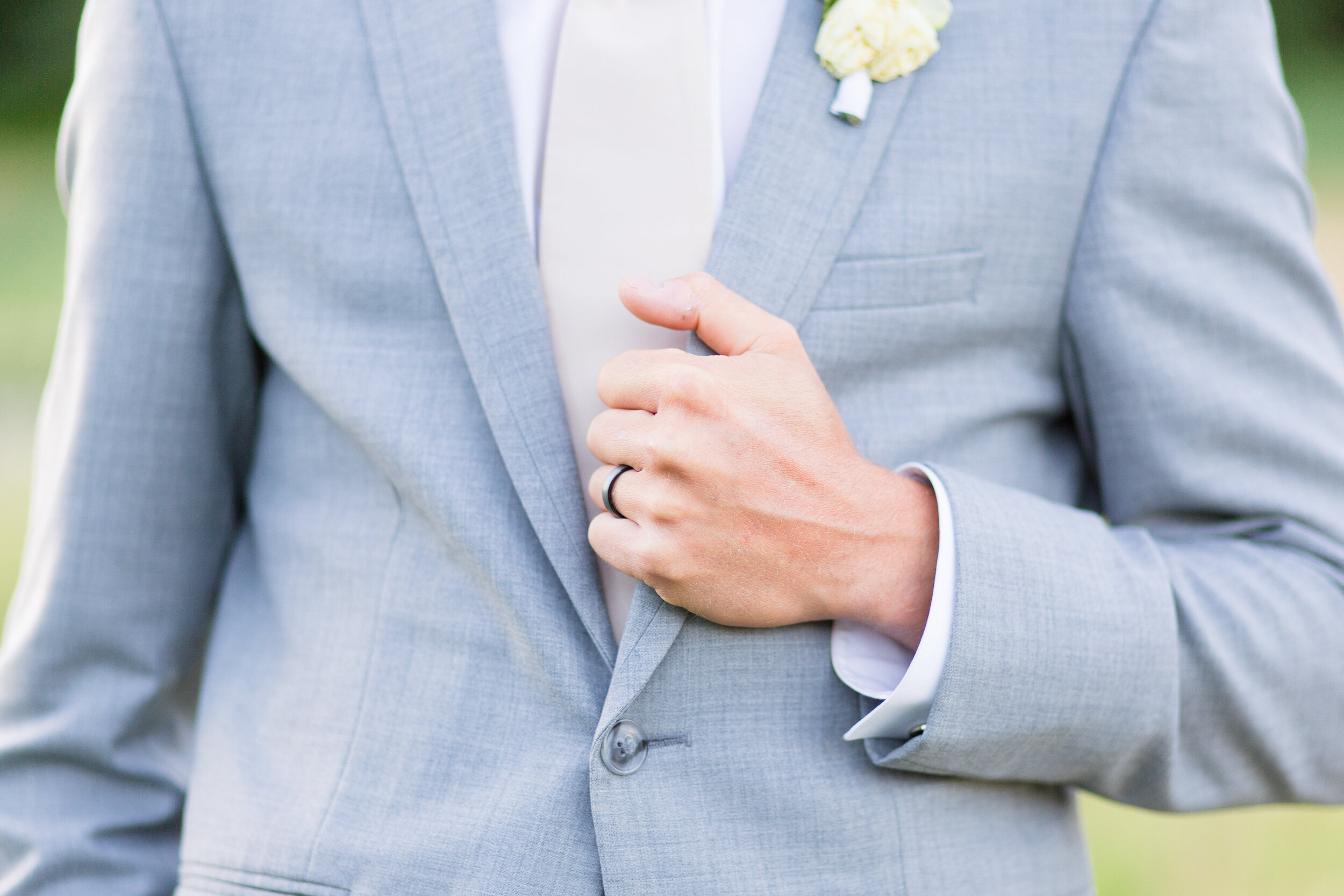 grey suit spokane groom summer wedding
