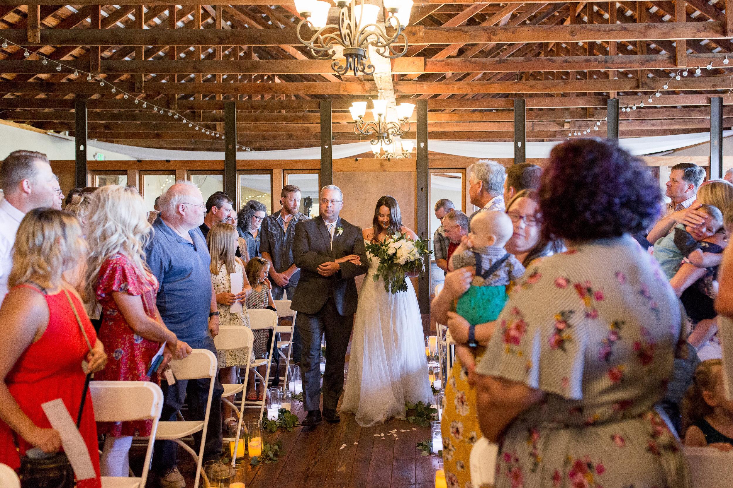 walking down the aisle spokane bride