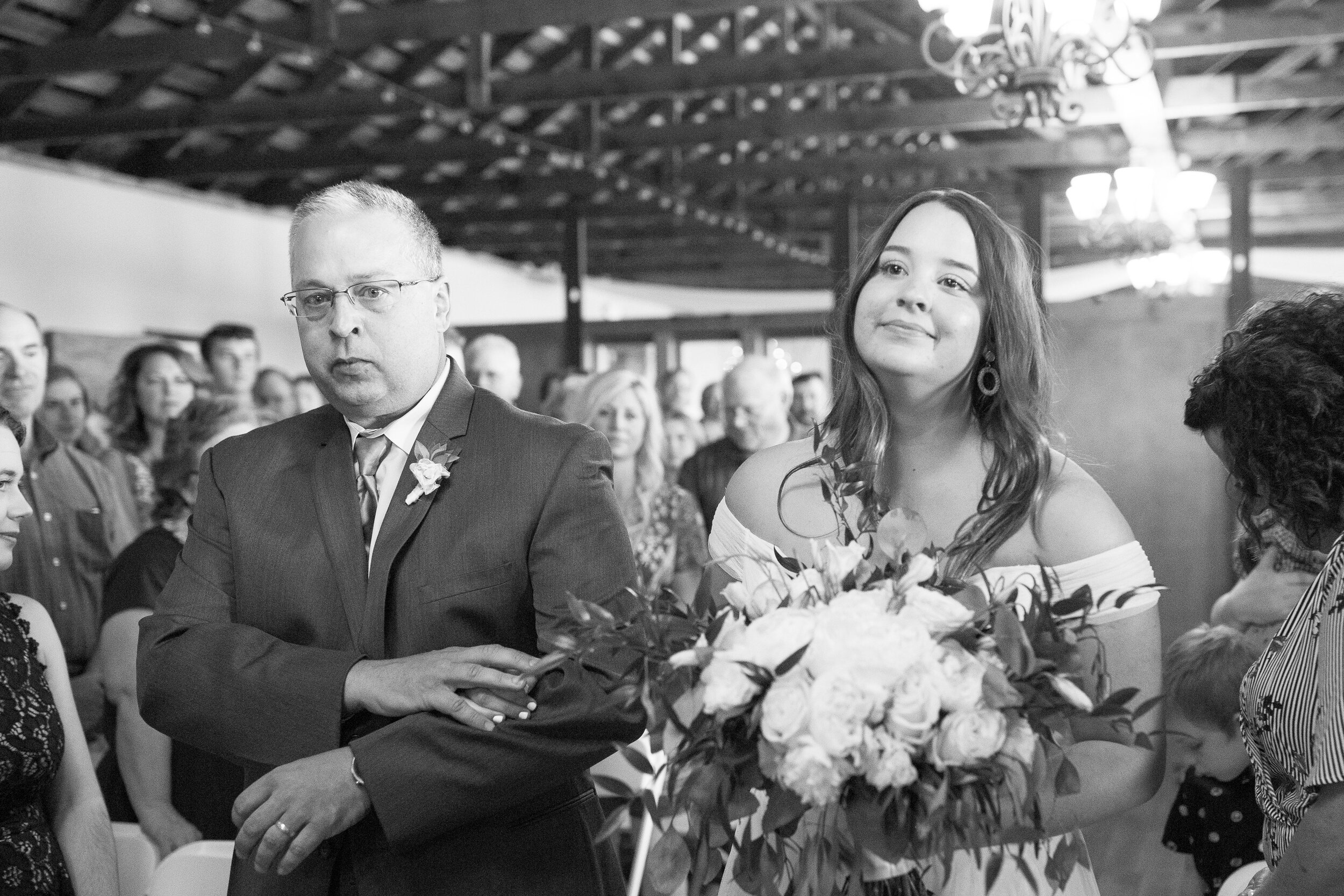 walking down the aisle spokane bride and groom