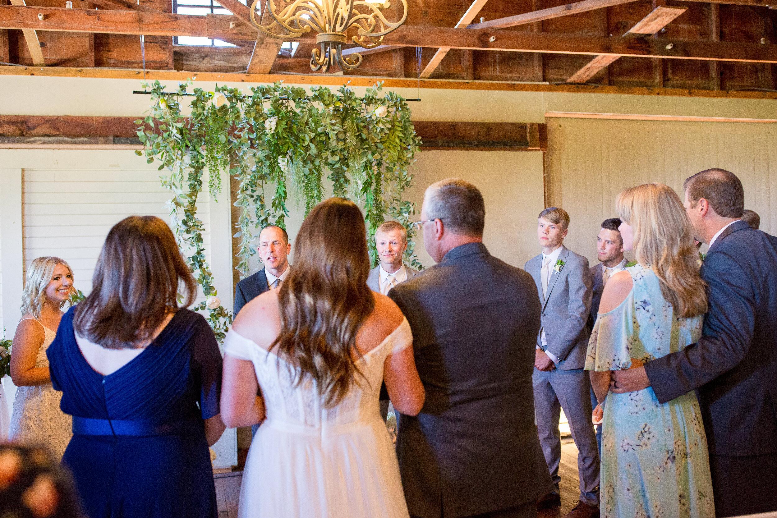 giving bride away spokane ceremony