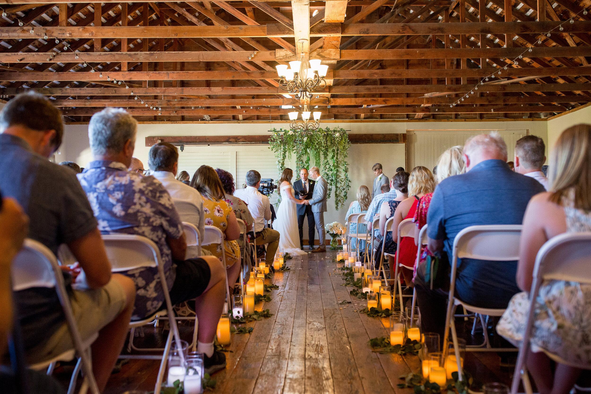 ceremony spokane wedding bride and groom