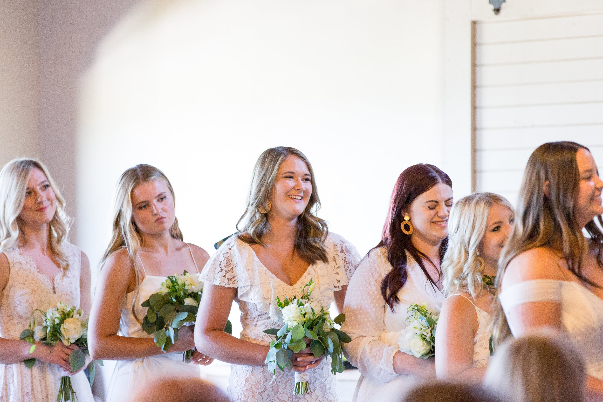 spokane bridesmaids wedding ceremony