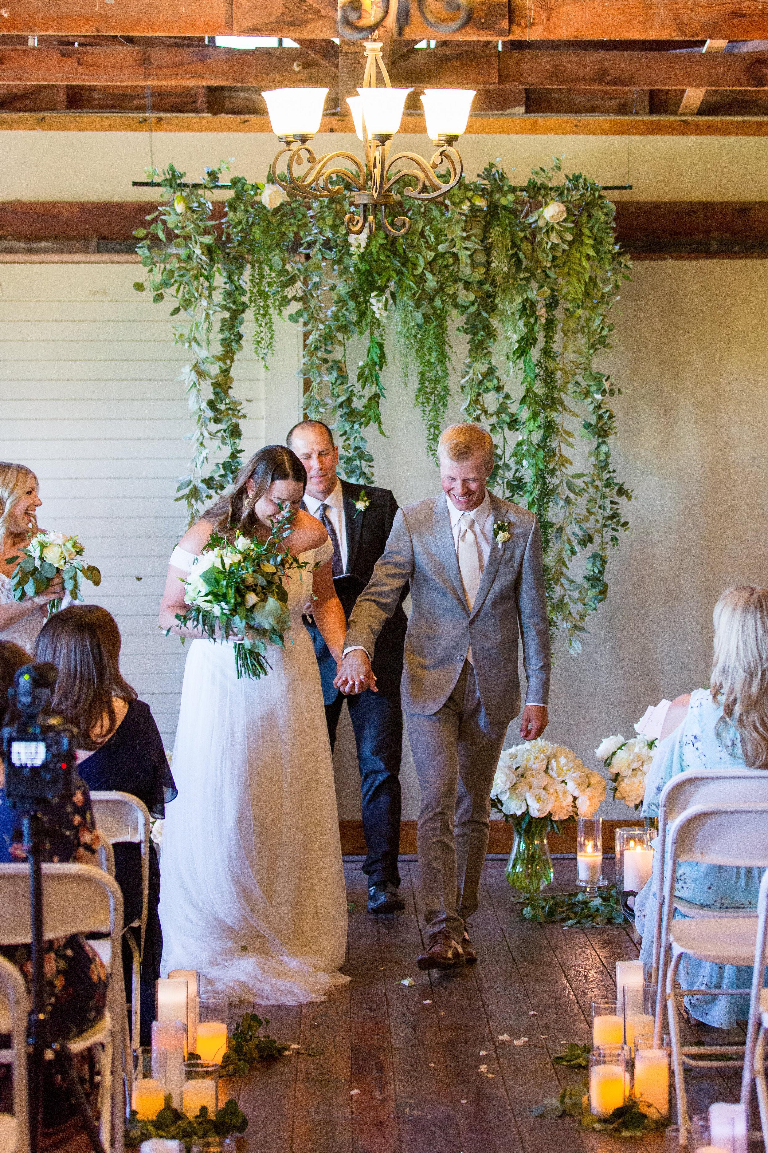 spokane bride and groom wedding ceremony