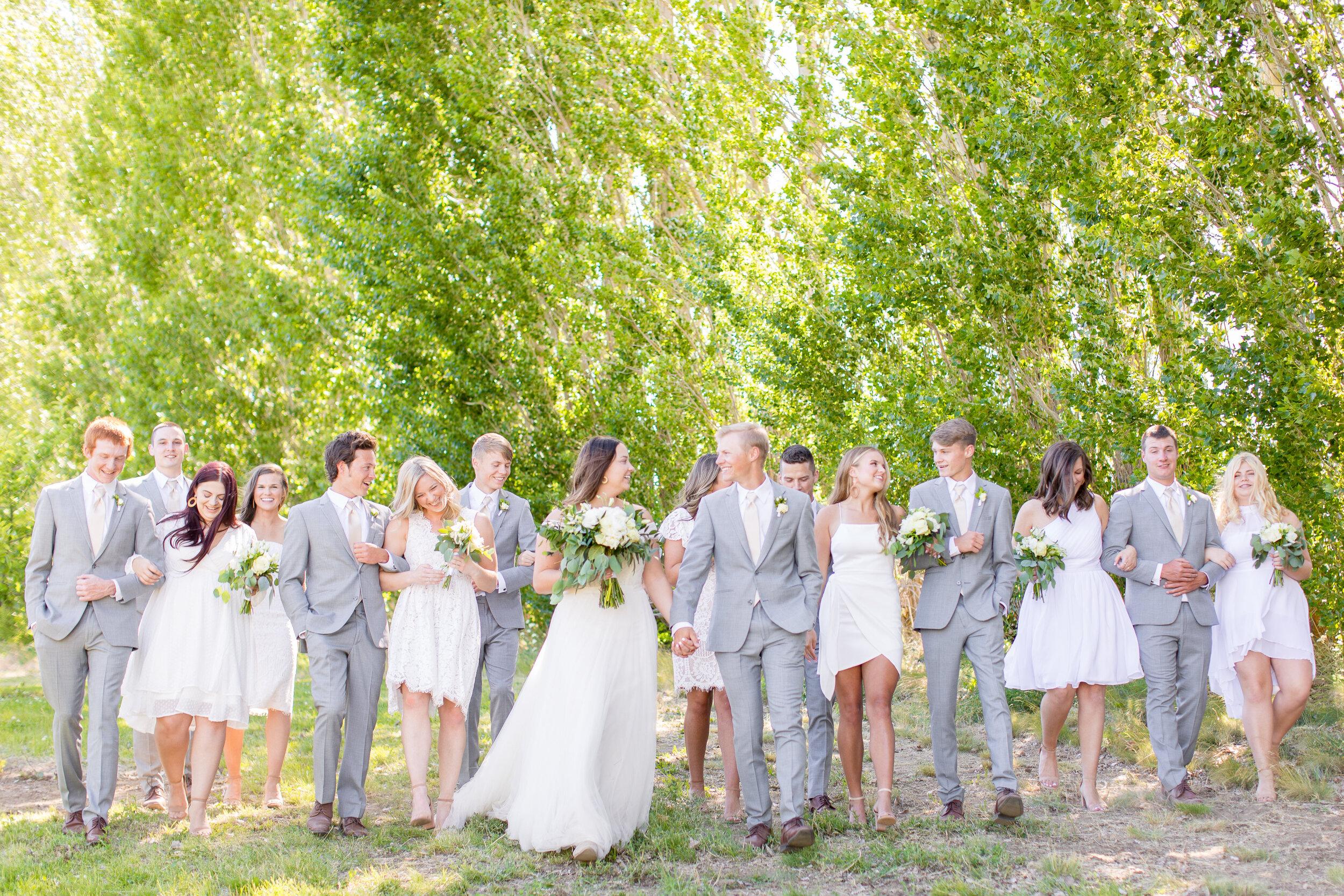 wedding party spokane bride and groom