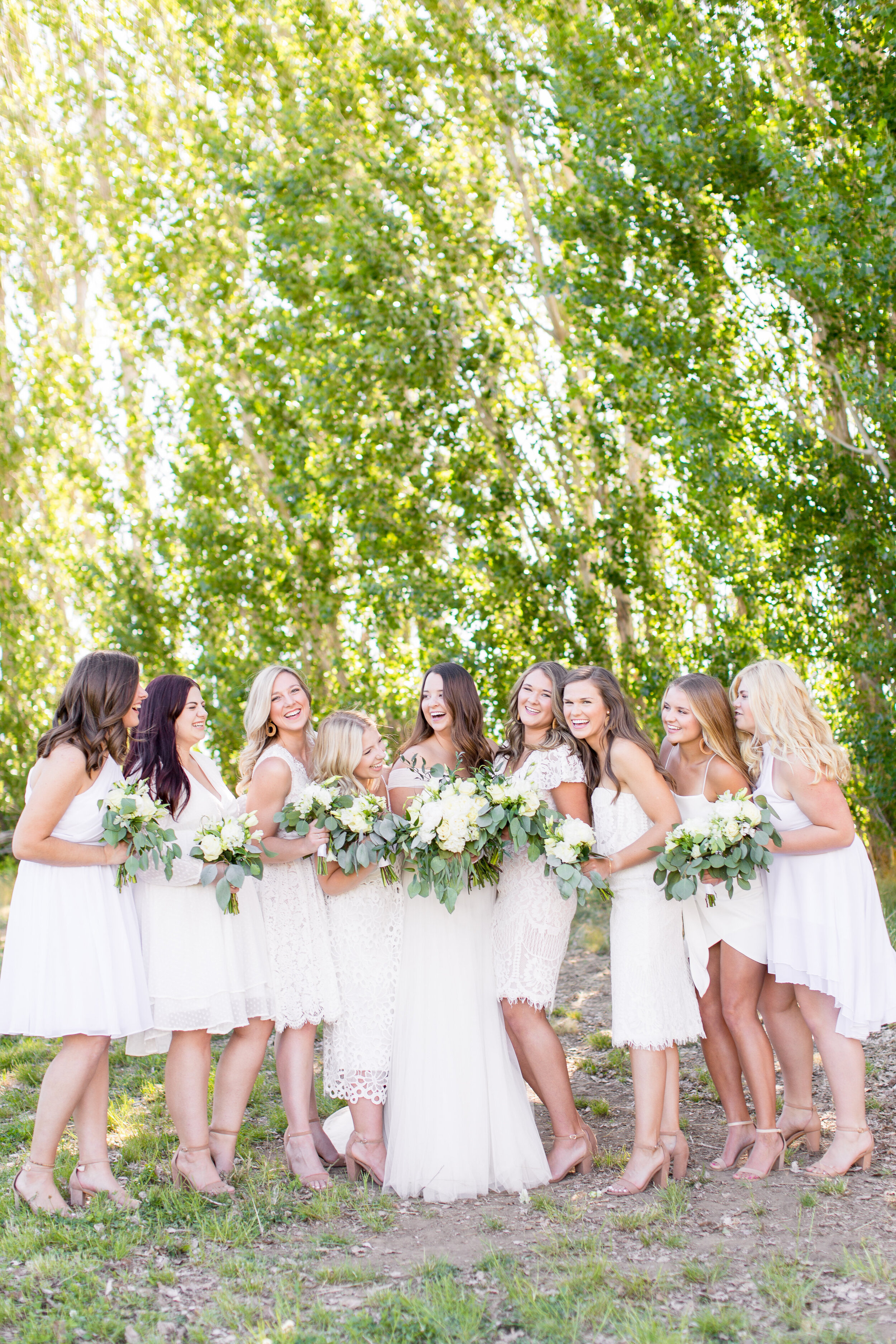 bridesmaids spokane summer wedding