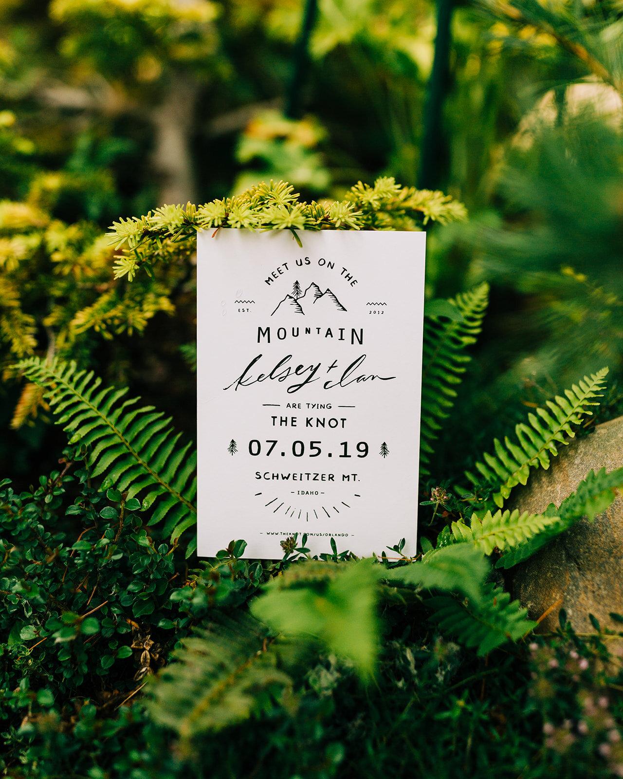 spokane wedding stationary  schweitzer ceremony