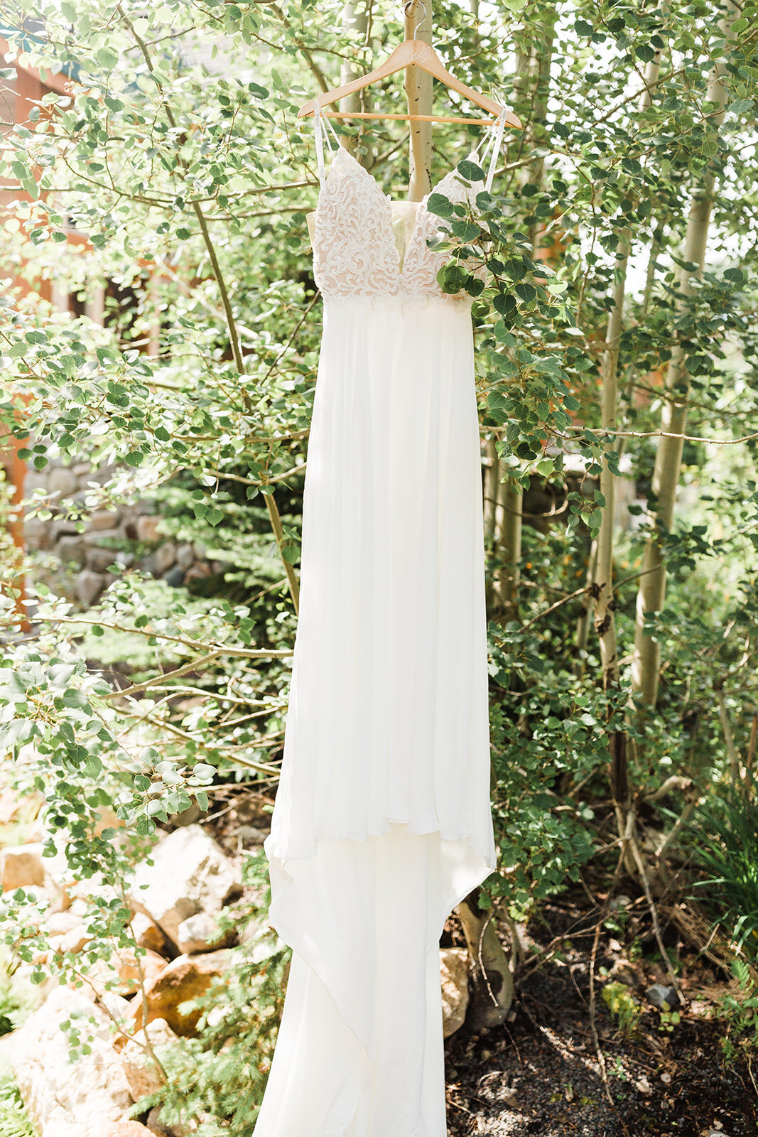 hanging wedding dress spokane bridal shop