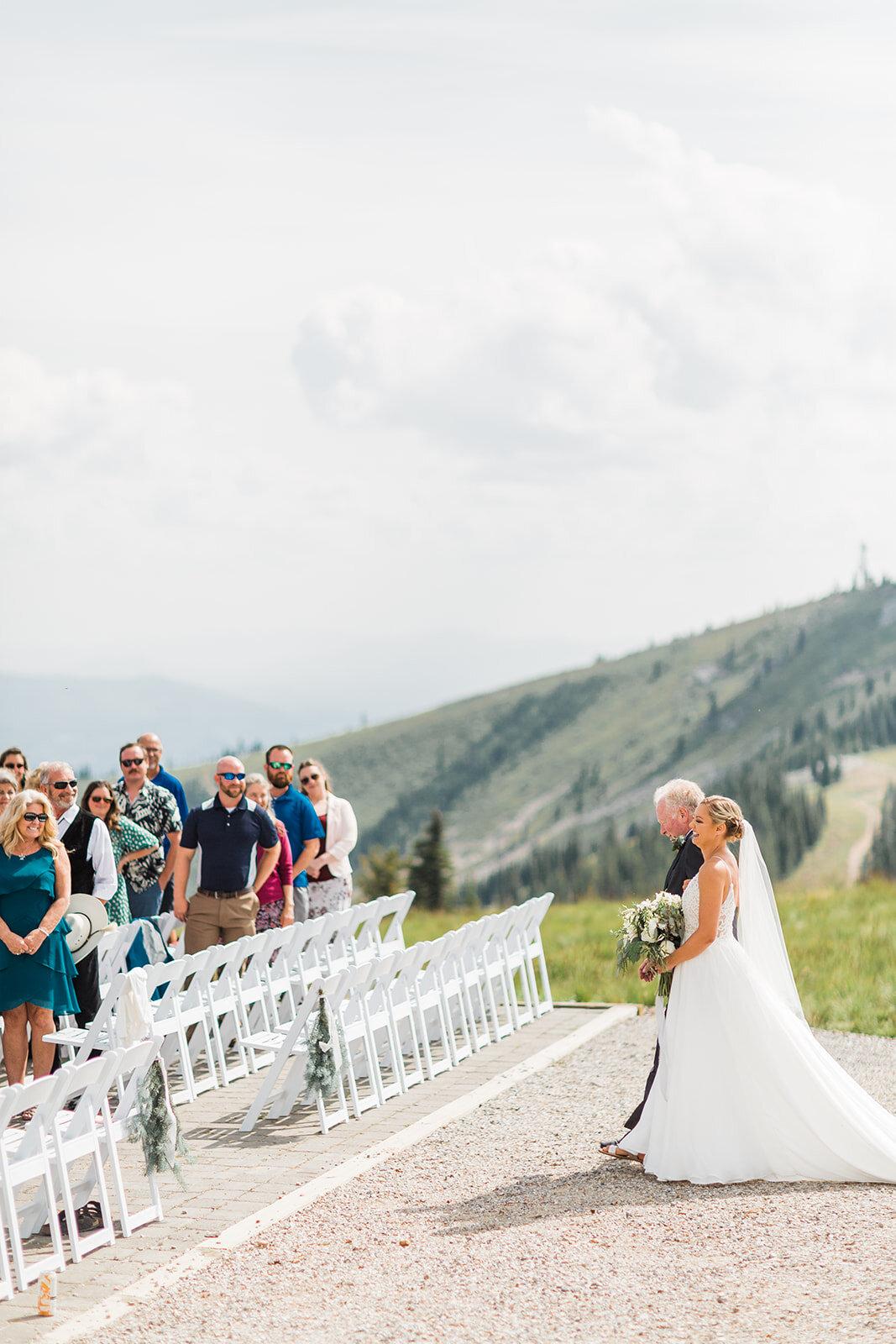 spokane wedding aisle wedding