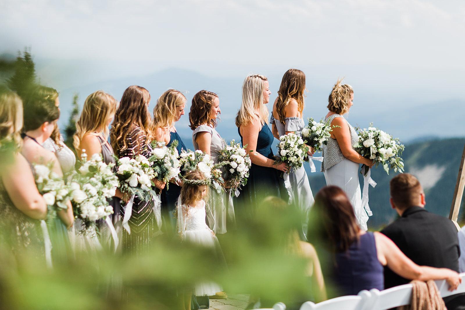bridesmaids spokane wedding bride