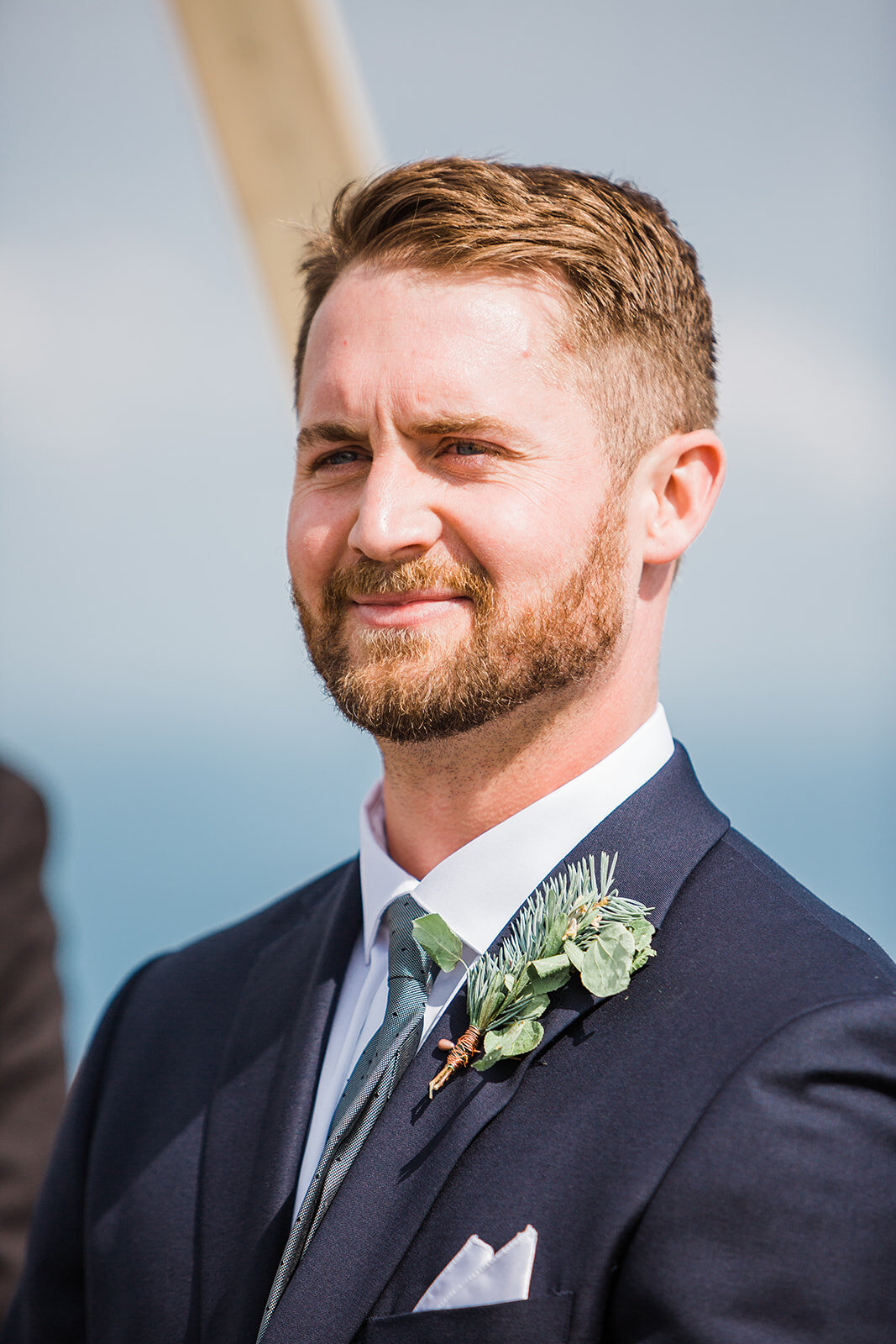 groom first look with bride spokane wedding