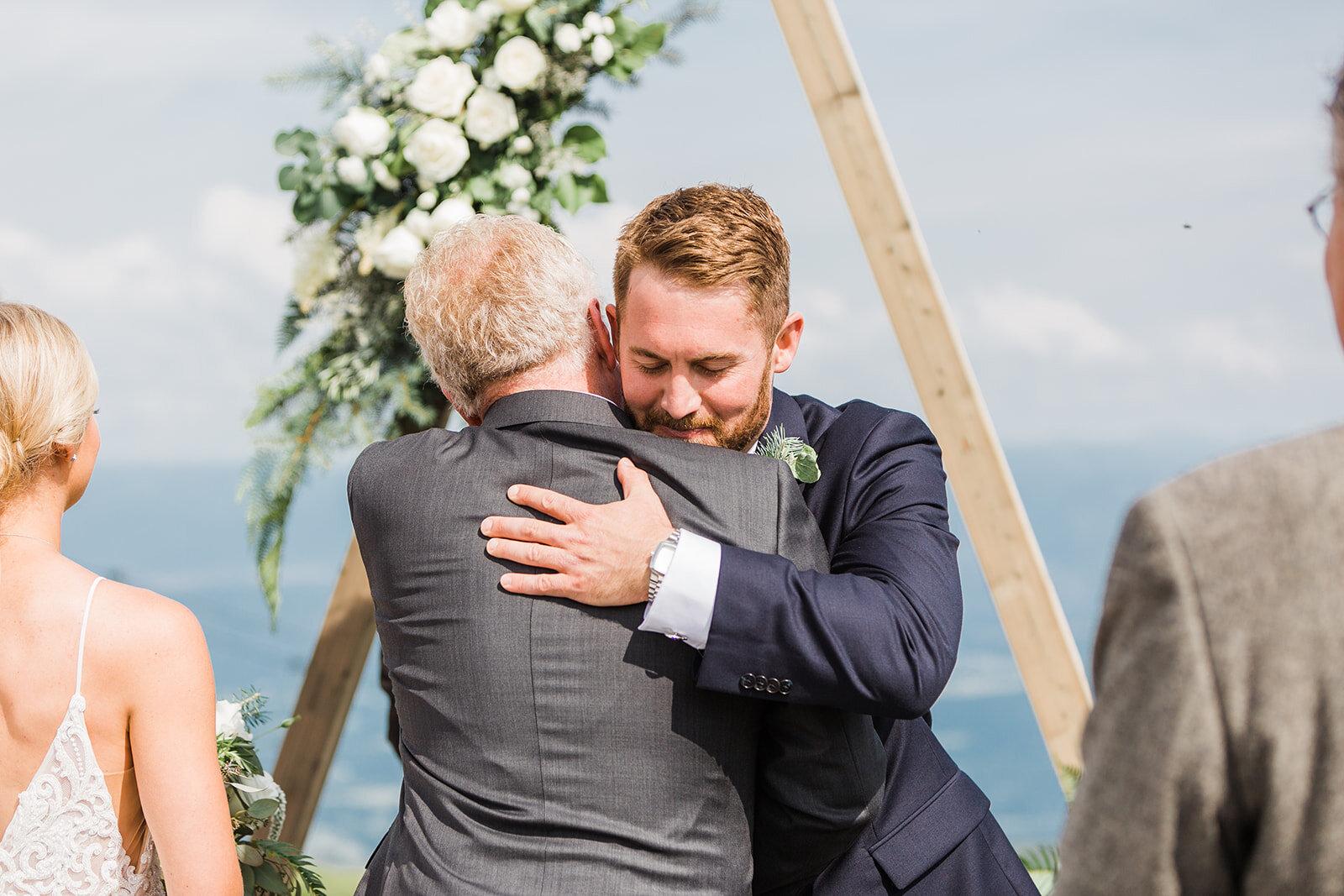 brides father and groom spokane wedding ceremony