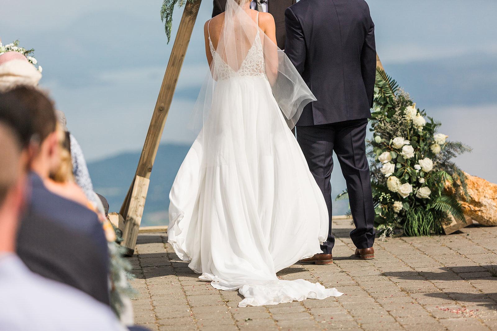 bride and groom ceremony spokane wedding