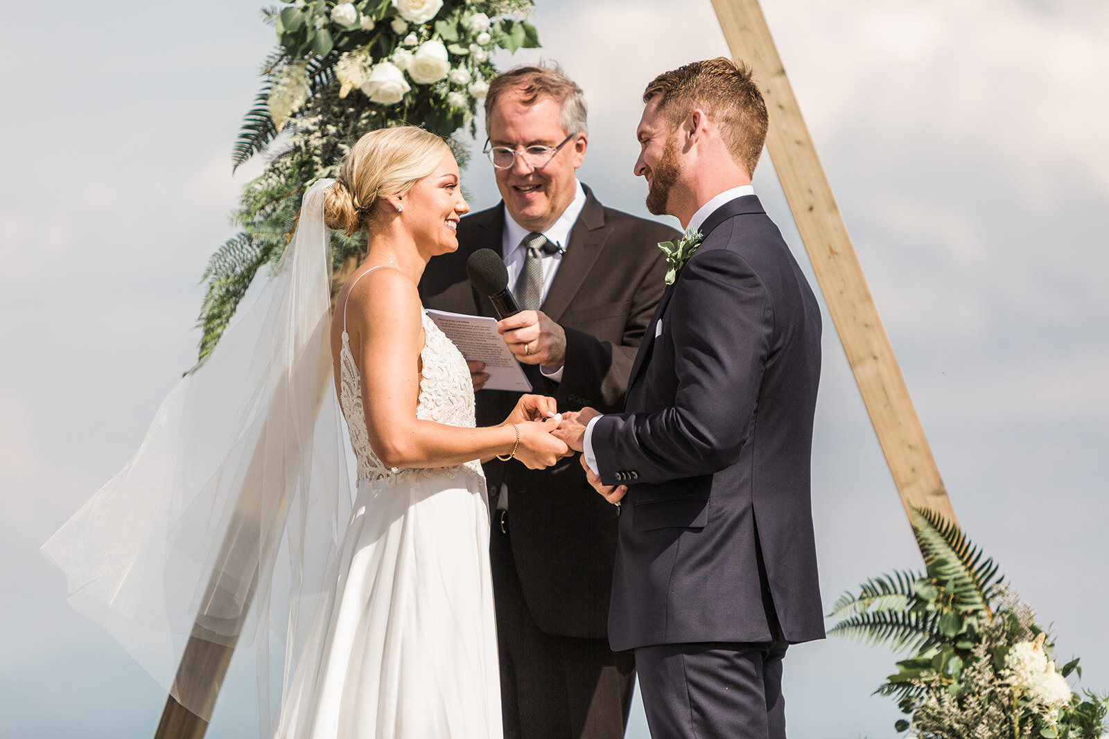 spokane bride and groom wedding ceremony spokane