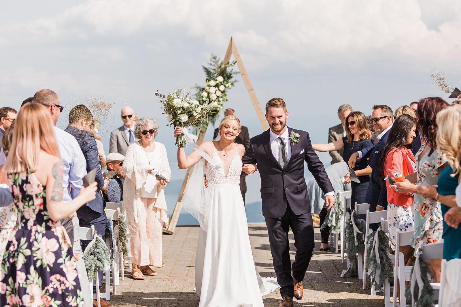 spokane bride and groom schweitzer wedding ceremony