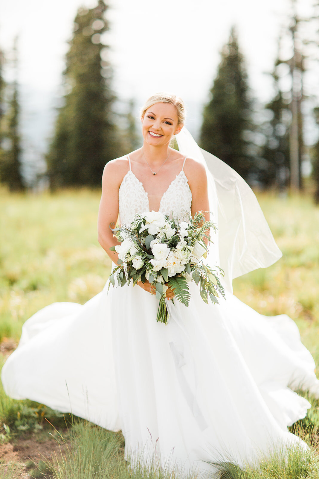 spokane bridal portraits wedding