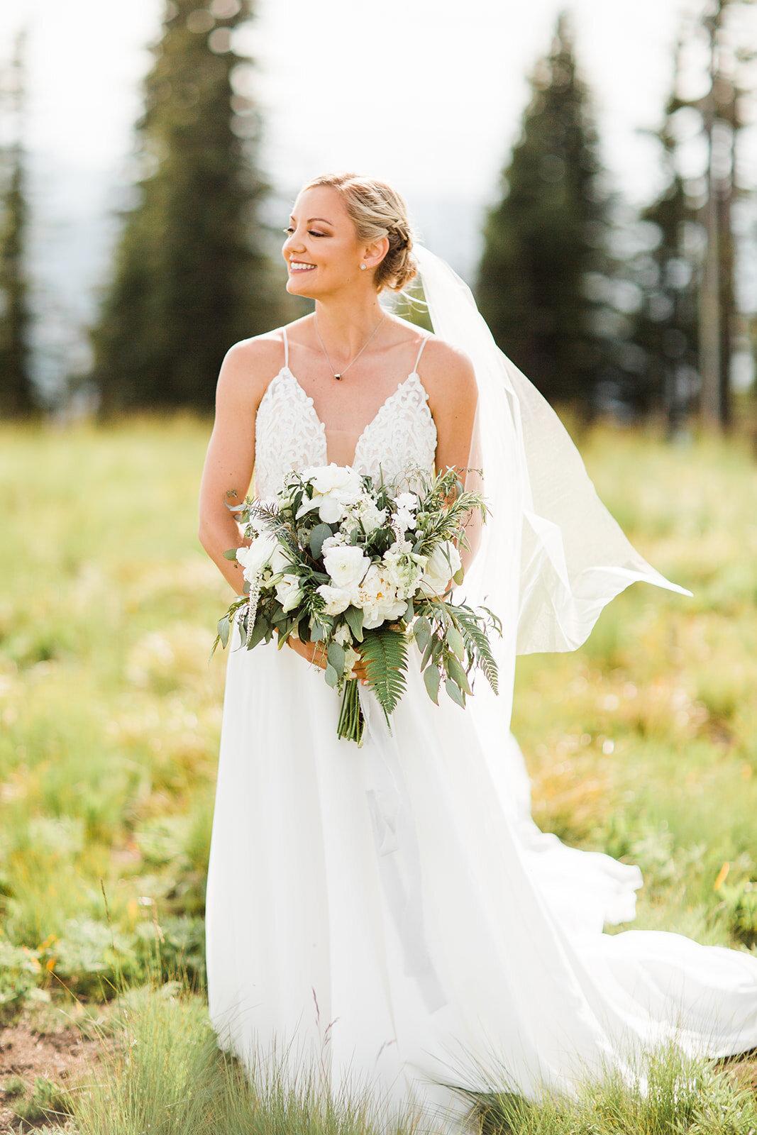 spokane bride portraits wedding