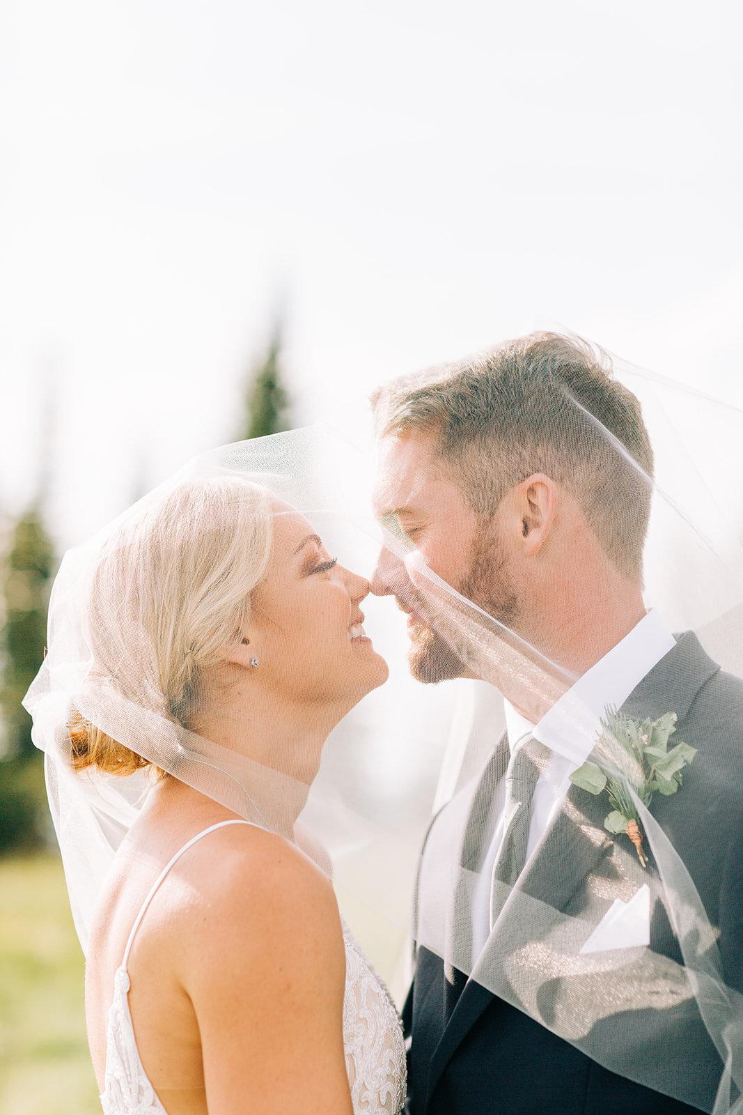 bride and groom spokane schweitzer mountain wedding