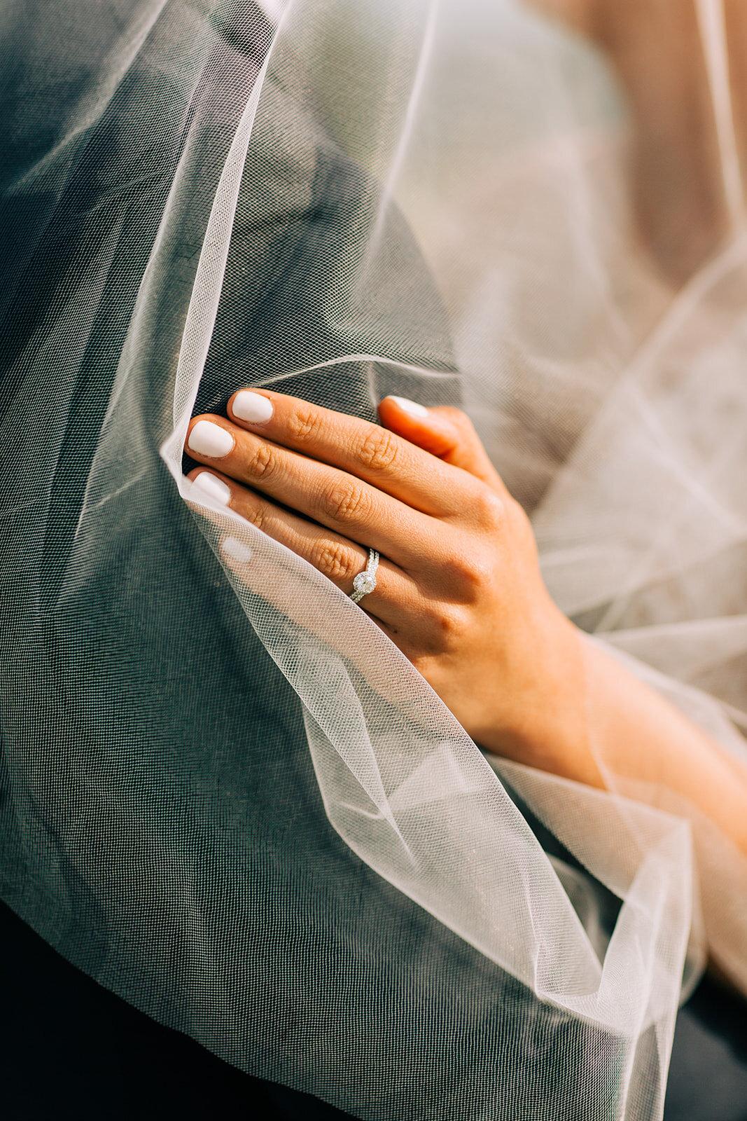 close up bride ring spokane wedding