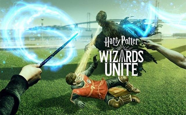We are taking a break from reading today to get in the mood for @leakycon! We have been playing @hpwizardsunite since they released it yesterday. Are you playing?