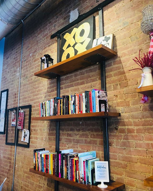 Be sure to stop by @xocoffeeco during the Plano Wine Walk tonight and purchase a book from the @bibliobartx shelf!