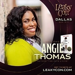 LeakyCon is almost here and it's Harry Potter's birthday so to celebrate we are going to feature one author each day that is coming to LeakyCon Dallas! First up is Angie Thomas! We love Angie, she is a wonderful human being and an amazing writer! You can meet her at LeakyCon and get a signed copy of either The Hate U Give or On The Come Up! Preorder your copy on LeakyCon.com or on our online store (link in bio). #leakycon