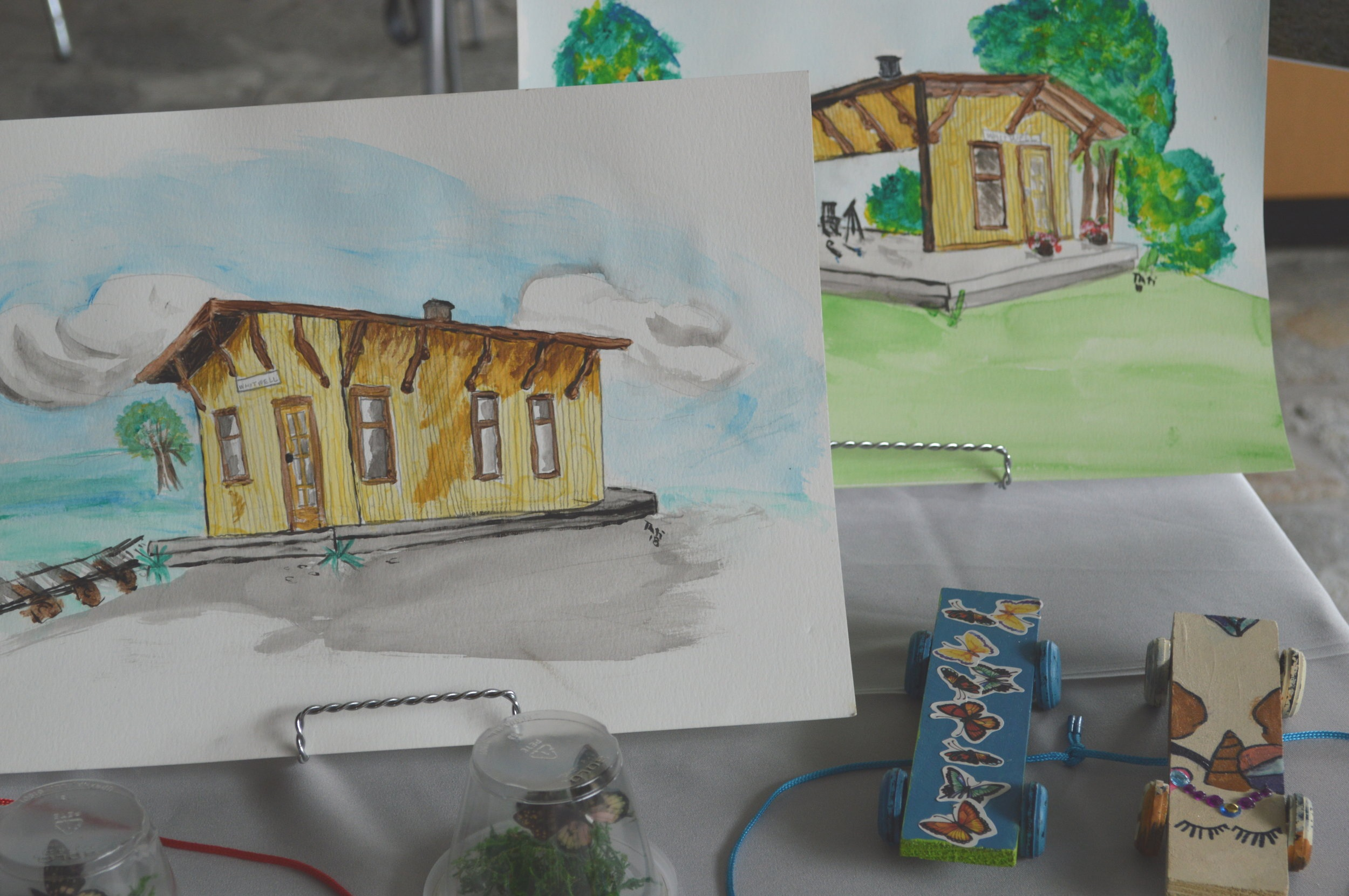 Rendering of the Whitwell train depot. Photo: Mary Kim