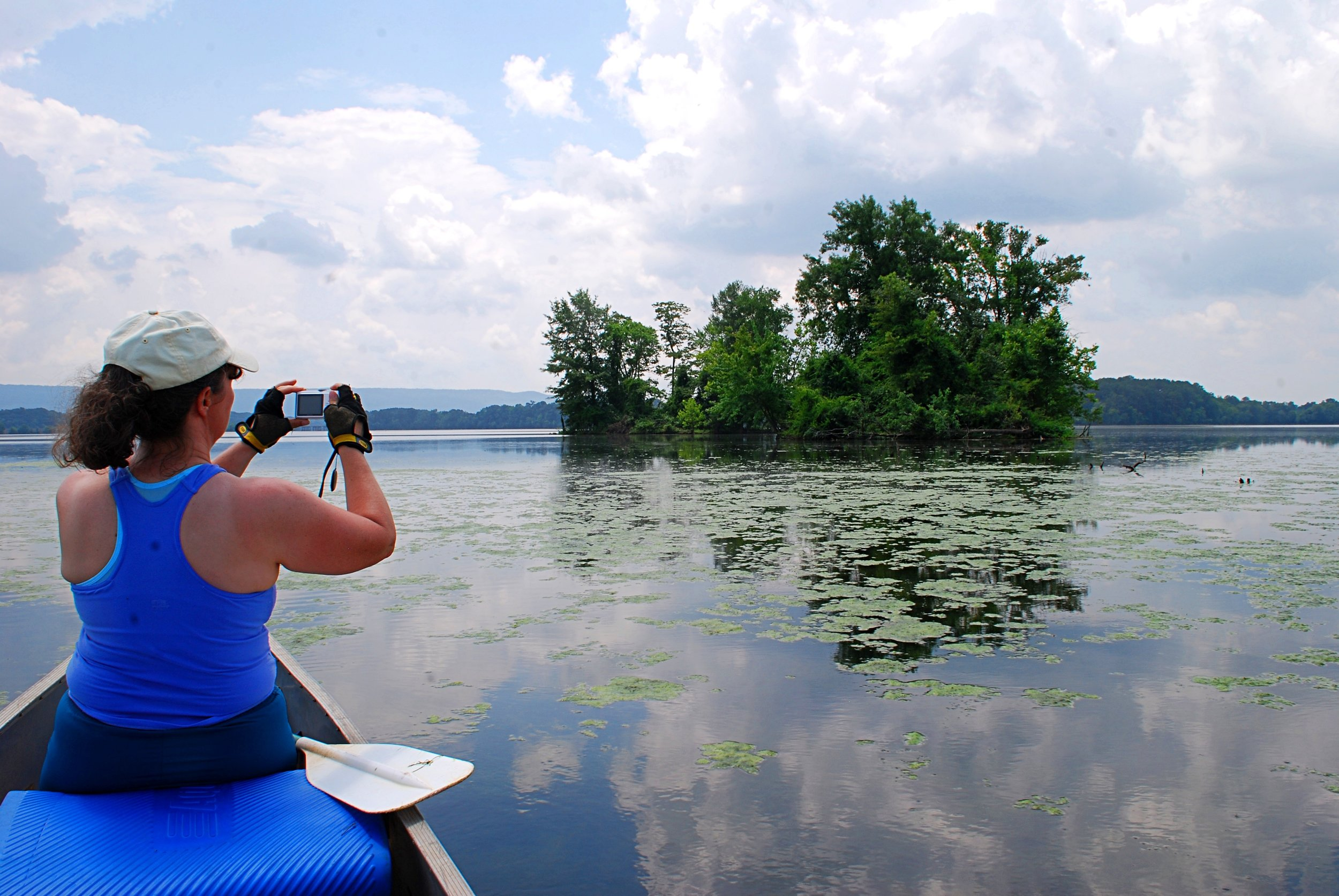 Canoeing is a great way to explore Crow Creek Refuge. Photo: Bob Butters