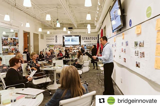 Today we hosted innovators from the communities of Bridgeport, Alabama, Dayton, Tennessee, and LaFayette, Georgia for @bridgeinnovate's design thinking crash course to kick off our #ThrivingCommunities Program.  #howwethrive