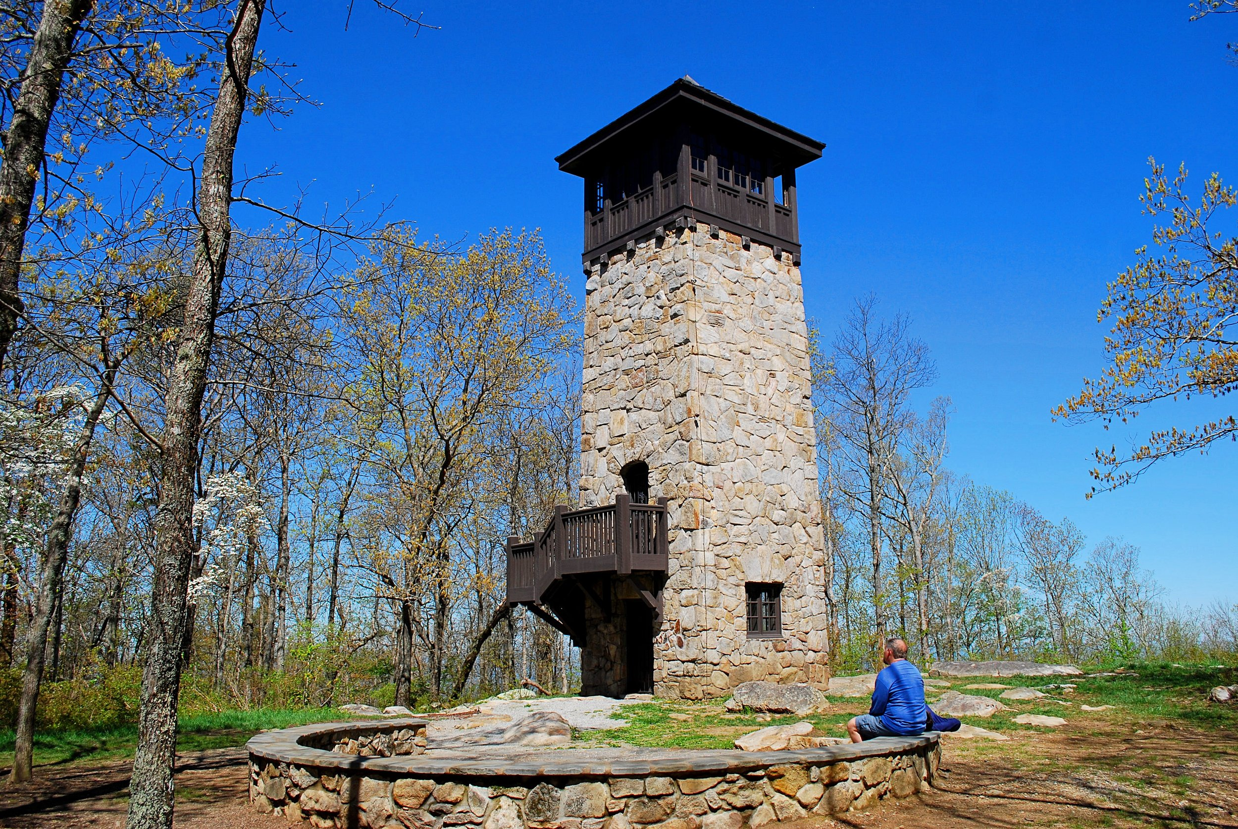 The Civilian Conservation Corps Stone Tower. Photo: Bob Butters