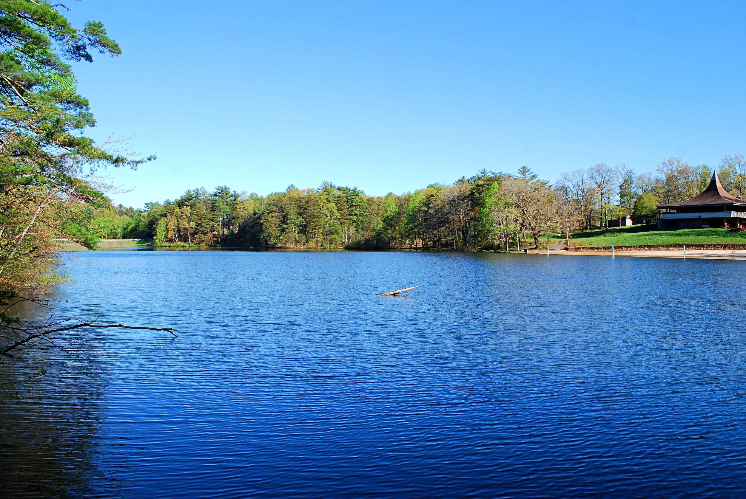 The park's 17 acre lake. Photo: Bob Butters