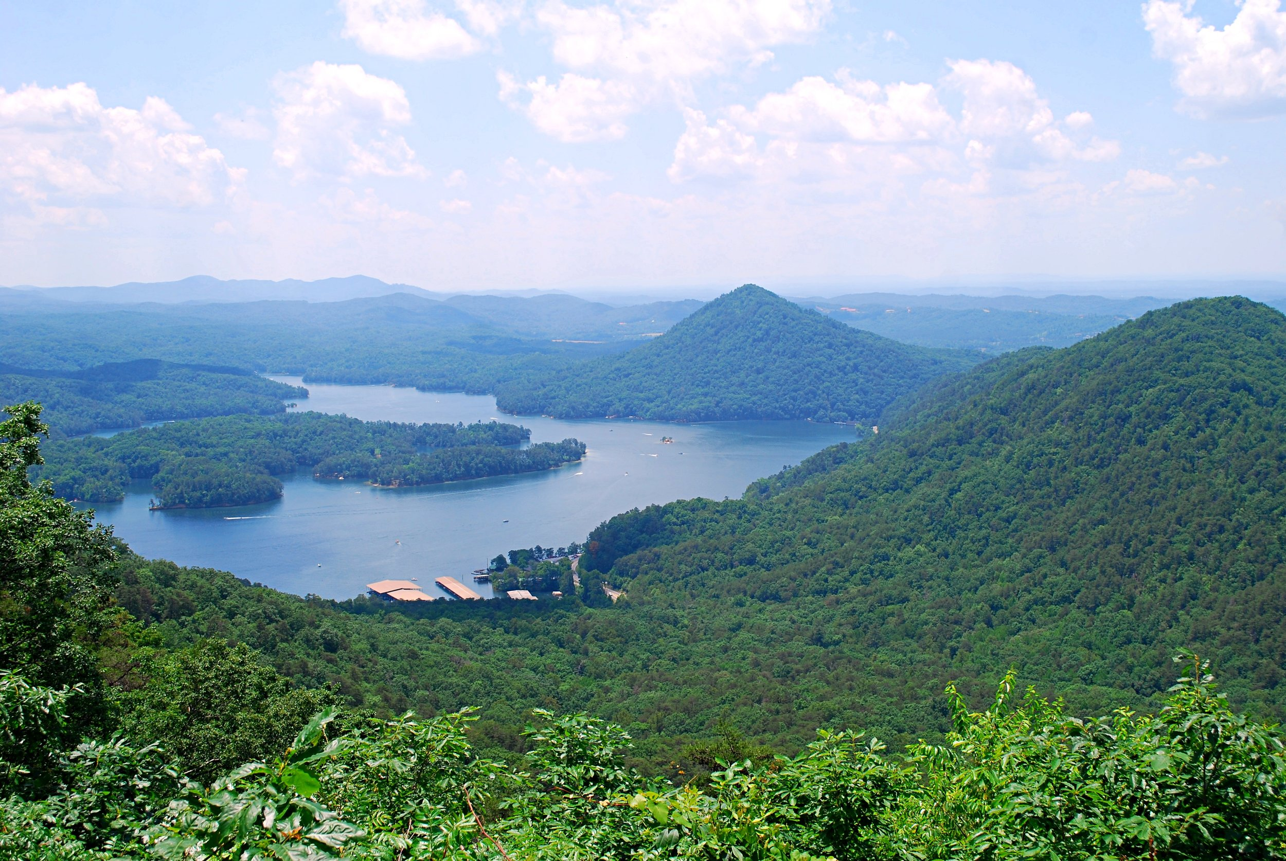 View of Parksville Lake from Chilhowee Mountain. Photo: Bob Butters