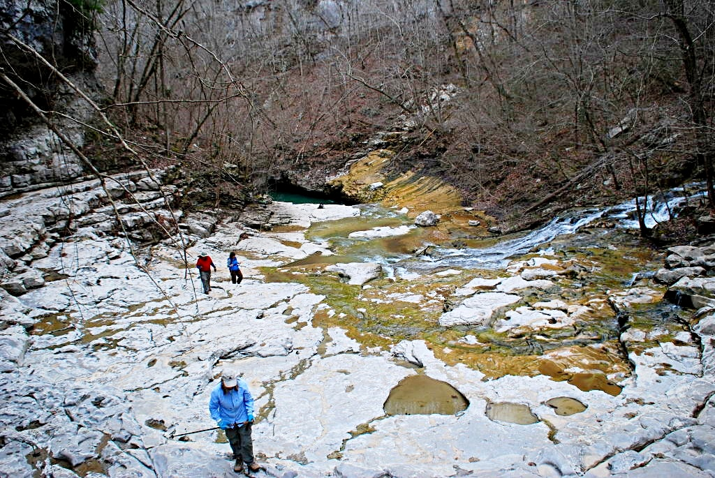 Hikers explore the amphitheater. Photo: Bob Butters