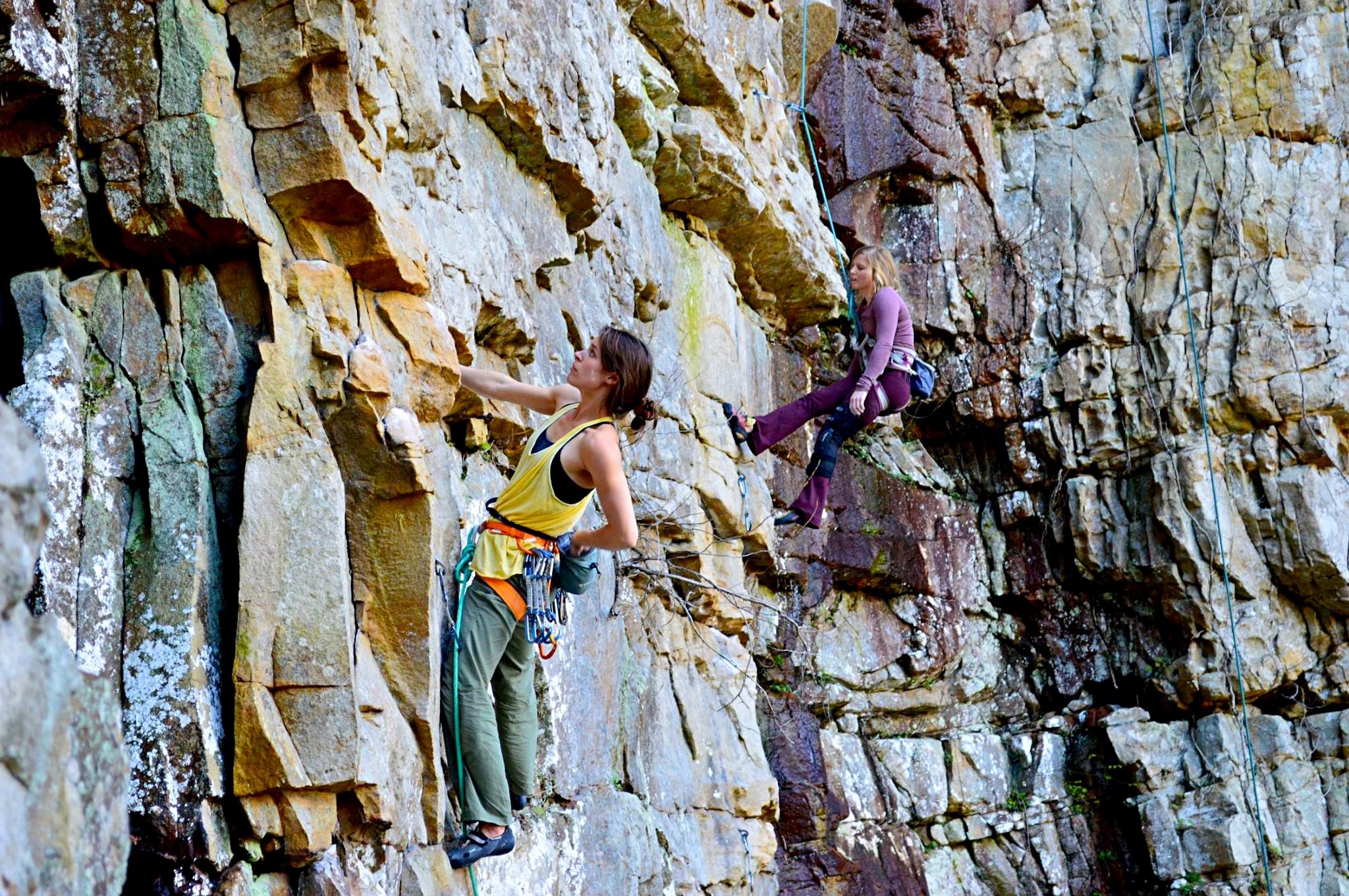 Climbers at Denny Cove. Photo: Southeastern Climbers Coalition