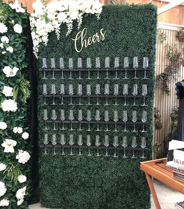 "Introducing our newest hire piece ""The Champagne Wall""! So excited to have this added to our collection - on display @hitchdweddingfair all weekend so come check it out! DM us to book this beauty!"