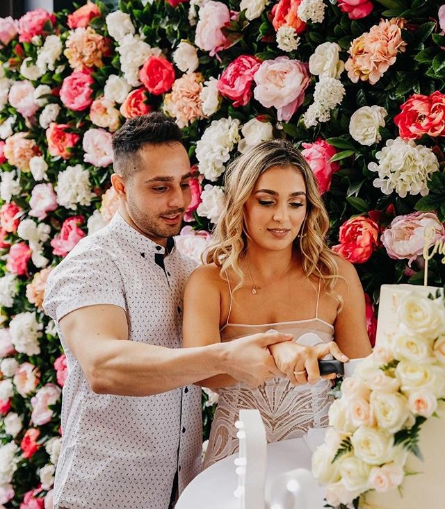 Looking for the perfect backdrop? How incredible does our Wonderland Wall look setting the scene for @_julianadinkha and Robbies engagement party over the weekend @regattabarandeatery  Get in touch to book one of our gorgeous flowerwalls for your next event!