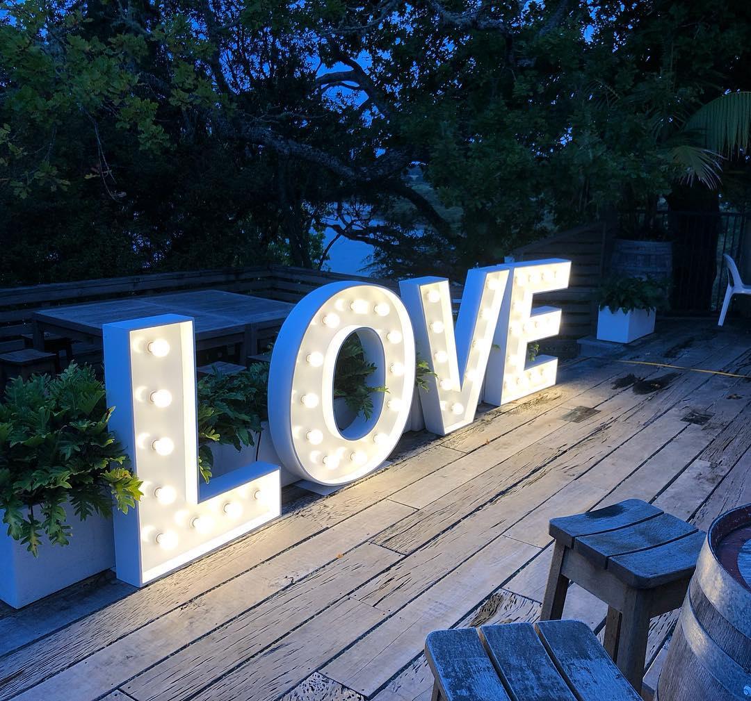 Love Lights - 1.2m high in warm white.