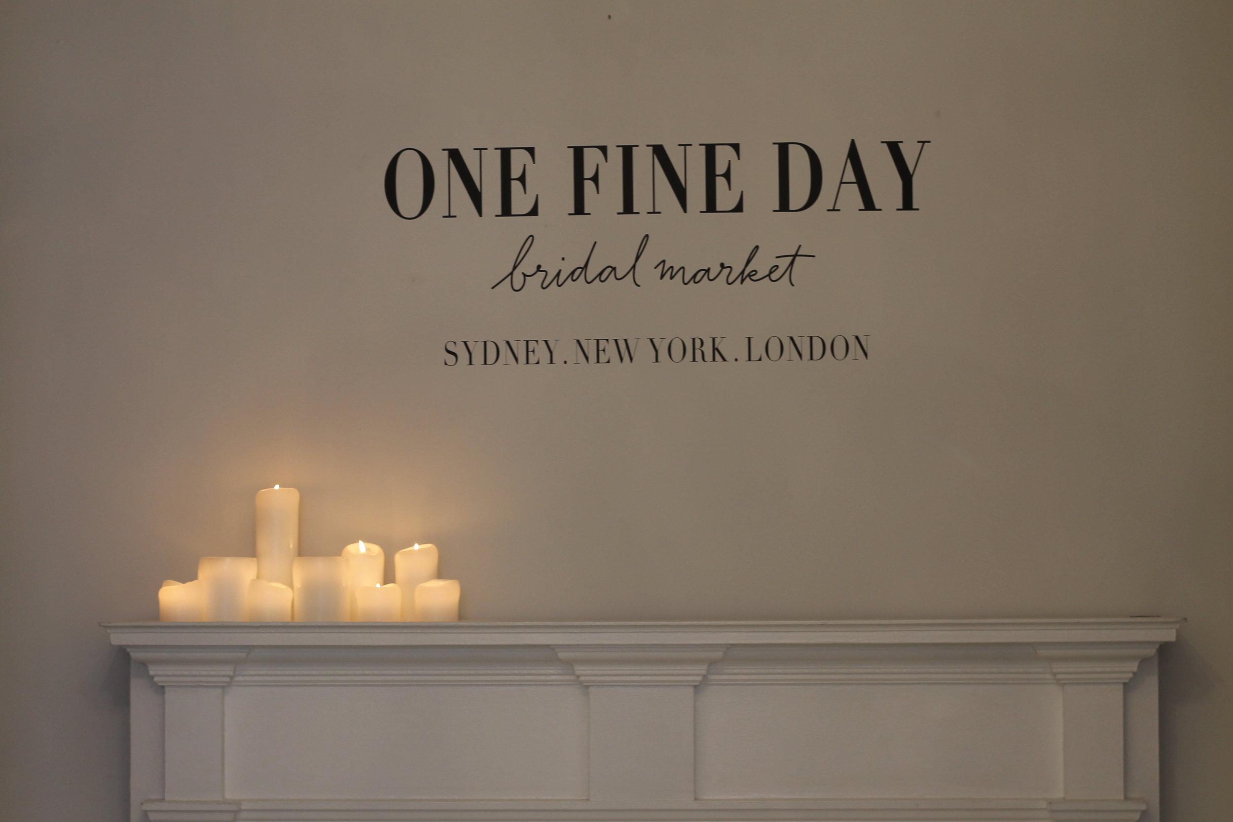 Deux fois par an à New York - One Fine Day Bridal Market regroupe les plus grands wedding designers du monde de la mode venant des Etats-Unis, Canada, Australie et Royaume-Uni.