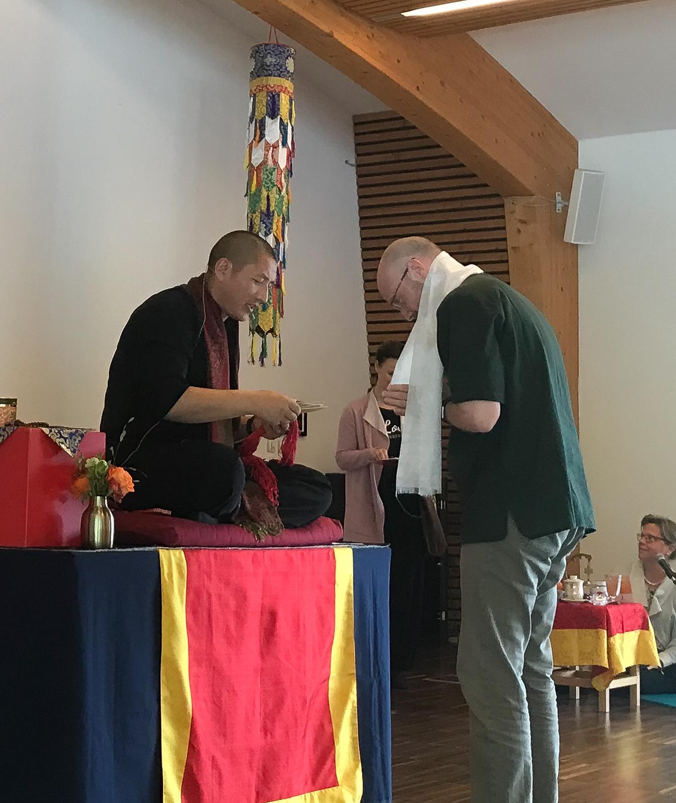 John taking refuge with Tulku Lobsang Rinpoche, May 2019