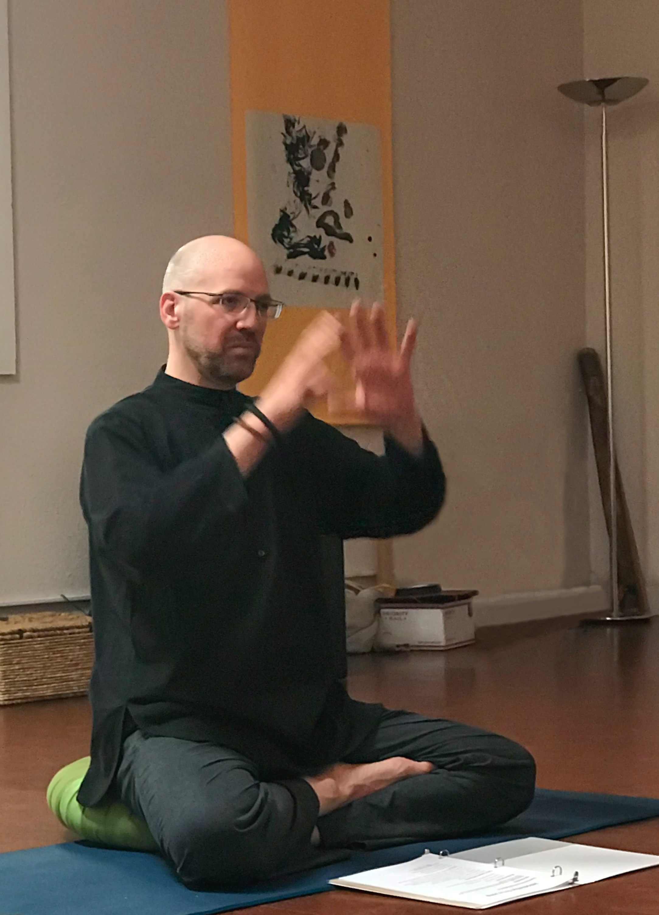 John teaching the philosophy of Lu Jong.