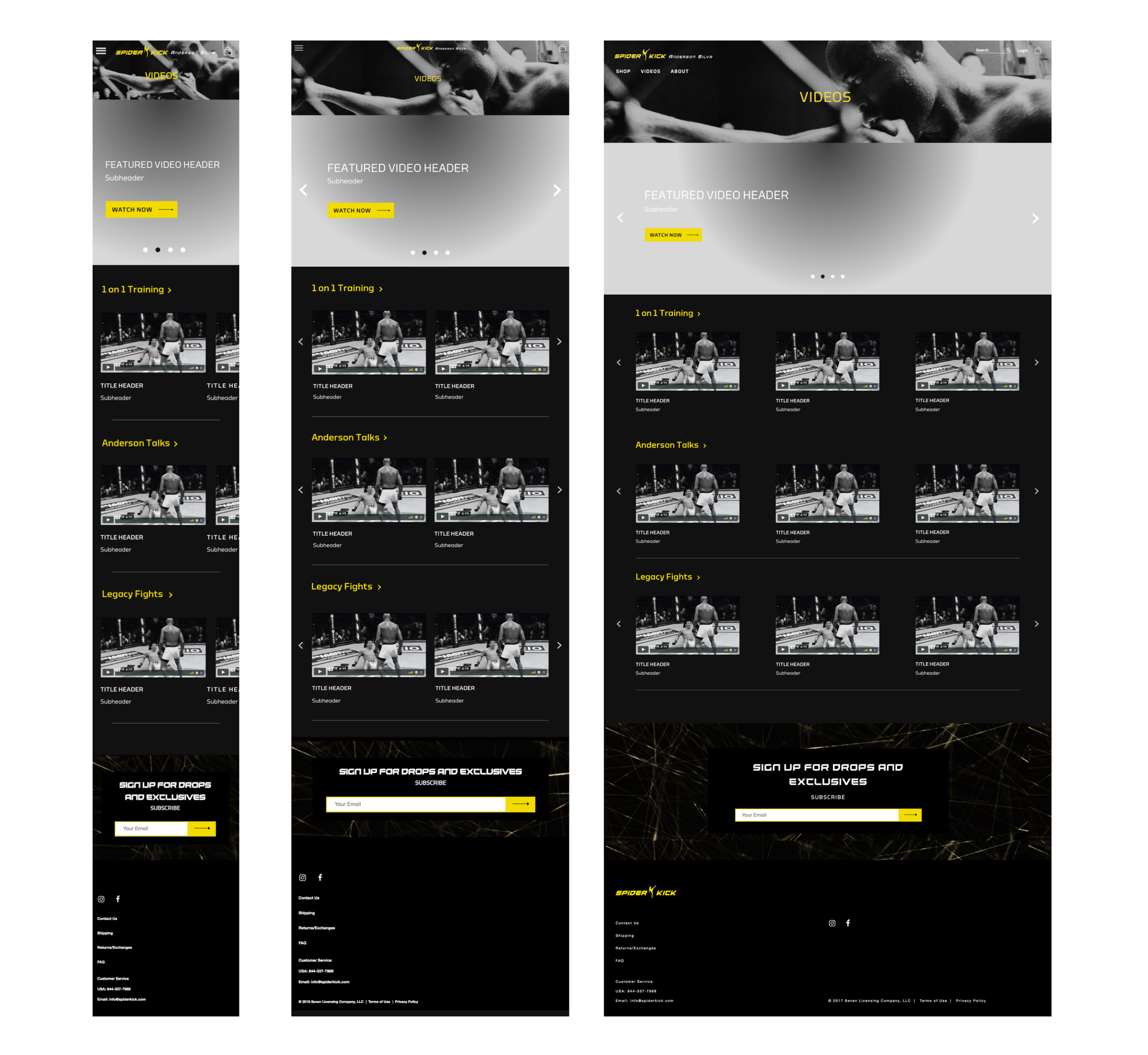 High-fi: Spider Kick Video Landing Page.png