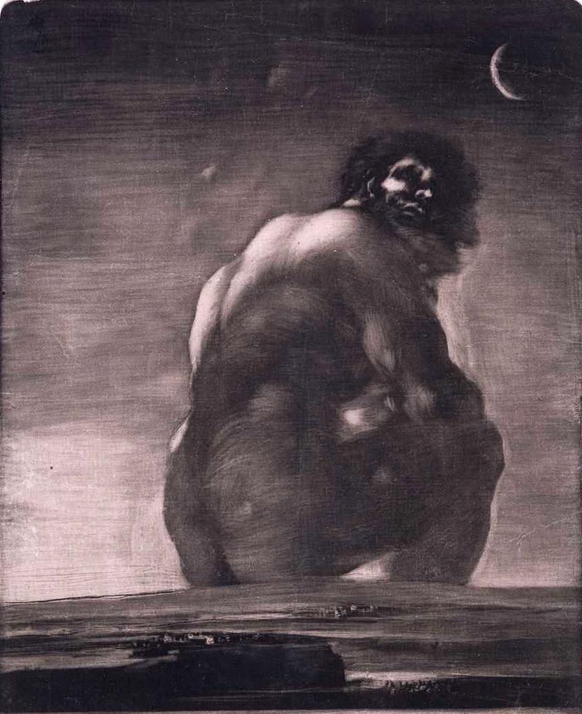 """""""The Giant"""", aquatint by Francisco José de Goya y Lucientes (1746-1828)"""